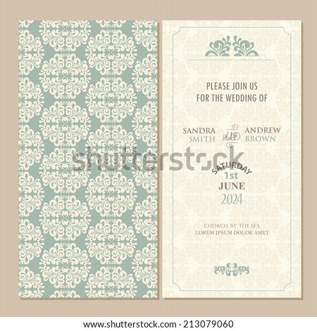 Invitation card stock images royalty free images vectors wedding vintage invitation card or announcement stopboris Gallery