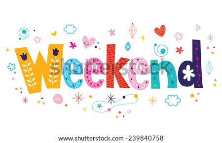 Weekend - stock vector