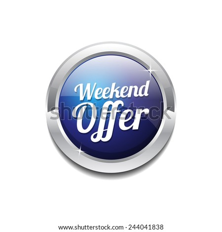 Weekend Offer Blue Vector Icon Button
