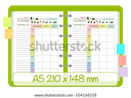 monthly meal planner template with grocery list - zenfruitgraphics 39 s portfolio on shutterstock