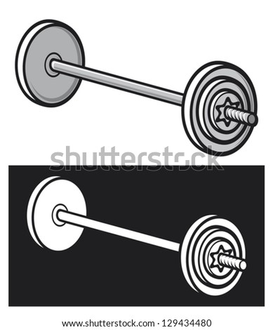 weight (dumbbell) - stock vector