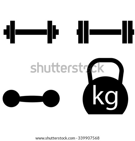 Weight icons set - stock vector
