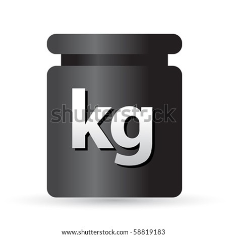 Weight kilogram barbell sign - stock vector