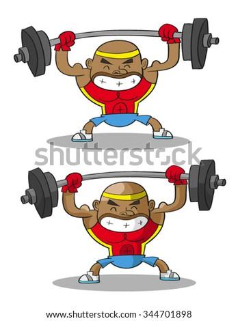 weight lifter - stock vector