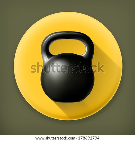 Weight, long shadow vector icon - stock vector