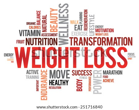 WEIGHT LOSS word cloud, fitness, sport, health concept - stock vector