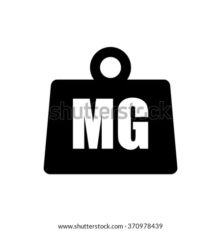 Weight Milligram Icon Stock Vector 370978439 Shutterstock