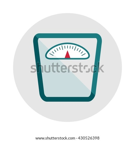 Weight scale icon. Objects isolated on a white background. Flat vector illustration.