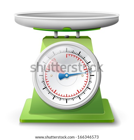 weight scale on white background weighing stock vector royalty free