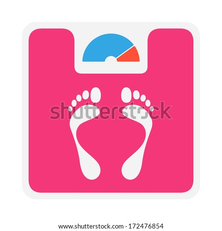 Weight scale vector icon - stock vector