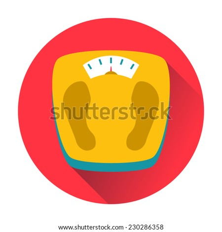 weight scales icon - stock vector