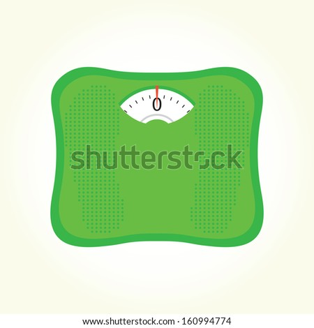 Weight scales isolated vector  - stock vector