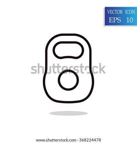 Weight sign icon, Kettlebell icon - Vector - stock vector