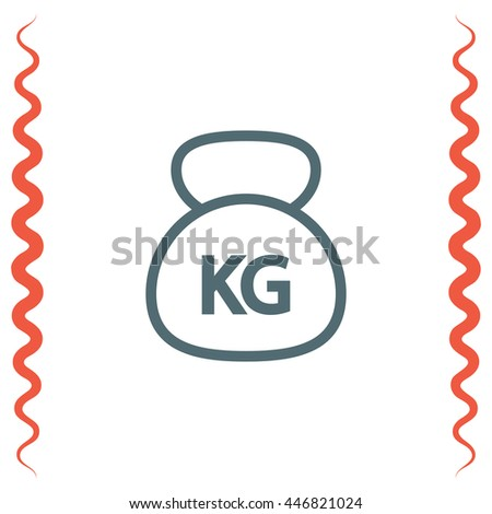 Weight sign line vector icon. Weightlifting barbell sign. Power fitness symbol.