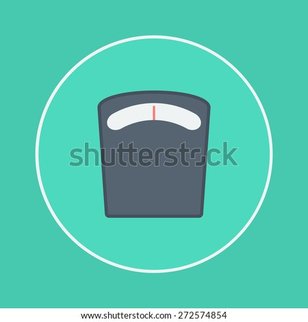 weighting apparatus icon - stock vector