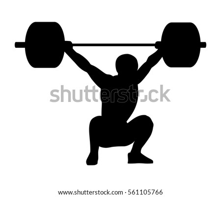 weightlifting snatch silhouette of a man