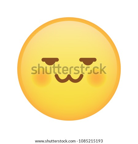 Weird Pervert Emoji Cat Mouth Expression Stock Vector Royalty Free