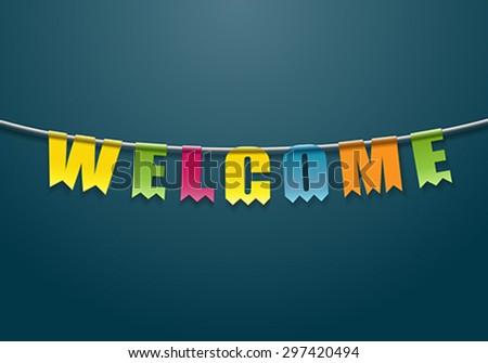Welcome - stock vector