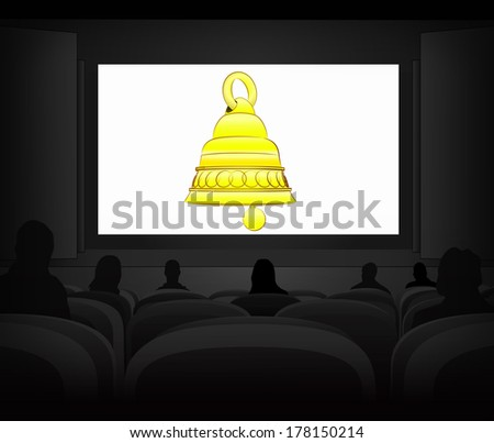 welcome advertisement as cinema projection vector illustration - stock vector