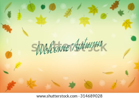 Welcome Autumn, abstract background. Vector illustration, EPS10. - stock vector