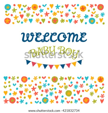 welcome baby boy baby shower greeting card baby boy shower card baby boy