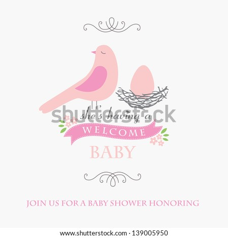 welcome baby card design. vector illustration - stock vector