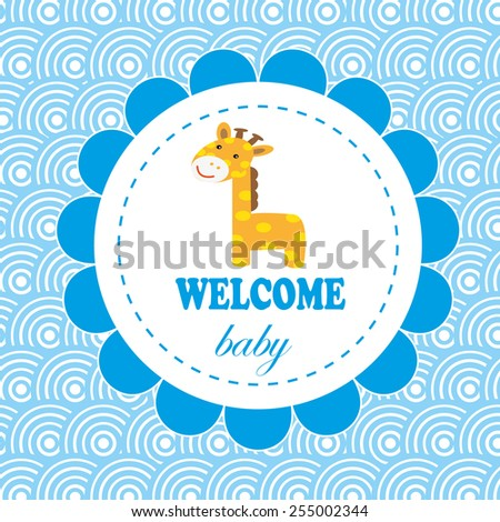 welcome baby card. vector illustration