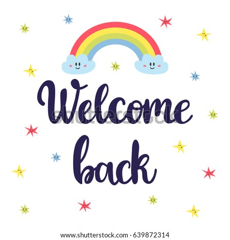 Welcome Back Lettering Text Hand Drawn Stock Vector 321288287 Shutterstock