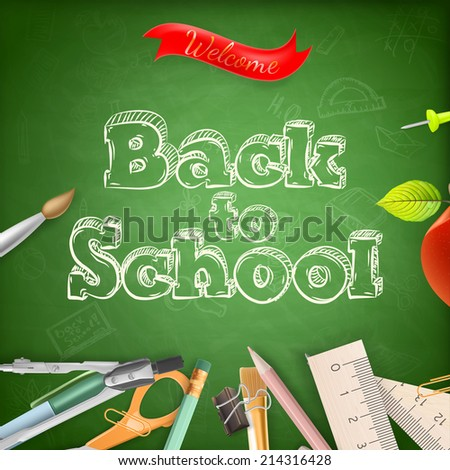 Welcome back to school. EPS 10 vector file included - stock vector