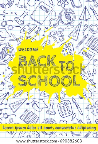 Welcome Back School Flyer Template Different Stock Vector Hd