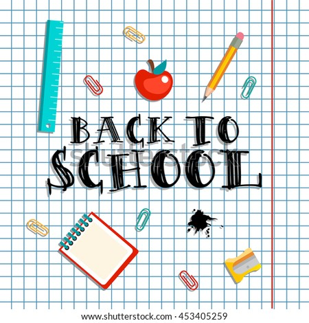 Welcome Back School Typographical Background On Stock Vector HD ...