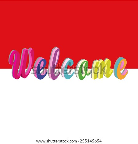 welcome background - stock vector