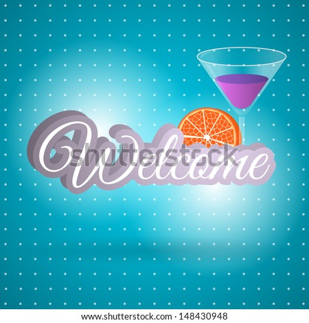 WELCOME hand lettering - stock vector