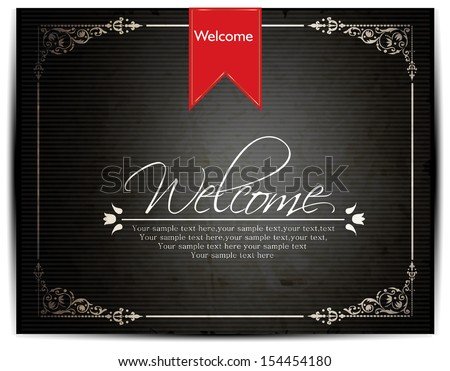 Welcome lettering design - stock vector