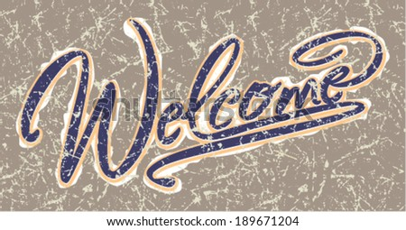 welcome -lettering vector