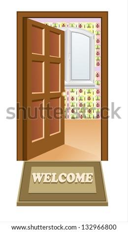 Open Door Welcome Clipart open door welcome stock images, royalty-free images & vectors
