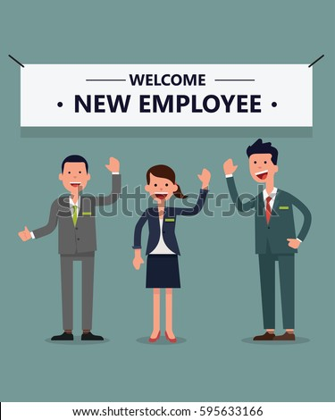 Welcome new employee stock vector 595633166 shutterstock thecheapjerseys Images