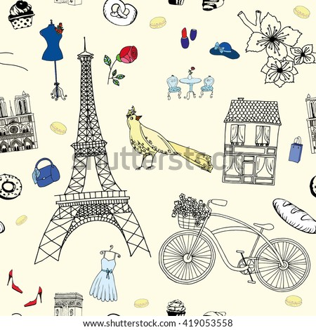 Welcome Paris pattern
