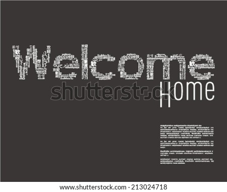 Welcome phrase in different languages. - stock vector