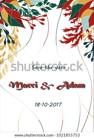 Welcome reception invitation wedding october light stock vector welcome reception invitation wedding october light background landscape stopboris Choice Image