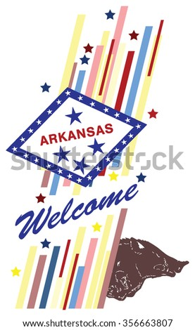 Welcome to Arkansas, creative banner for use in design.