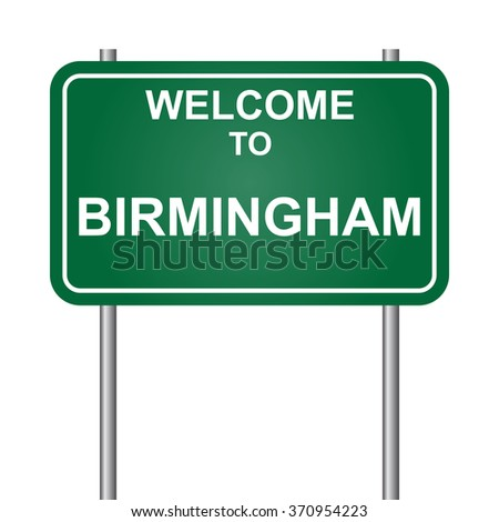 Welcome to Birmingham, green signal vector