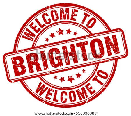 welcome to Brighton. stamp.