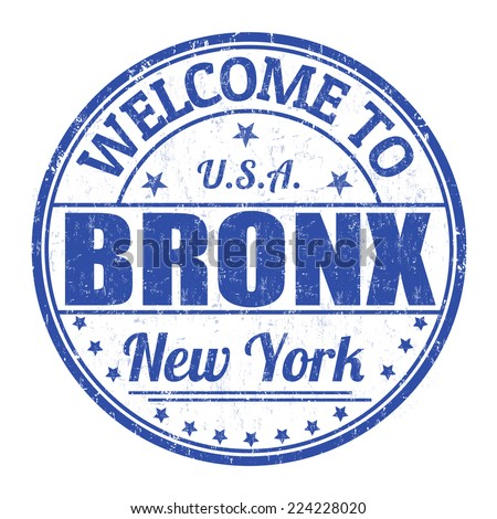Welcome to Bronx grunge rubber stamp on white background, vector illustration - stock vector