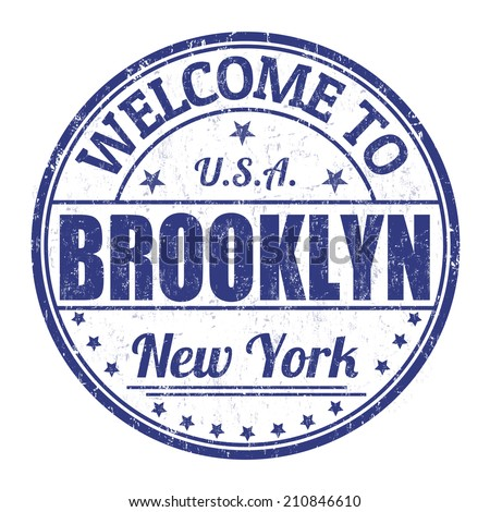Welcome to Brooklyn grunge rubber stamp on white background, vector illustration - stock vector