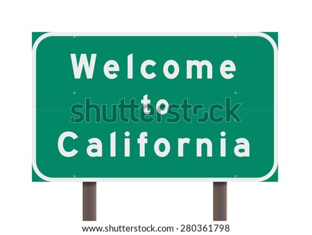 Welcome to California - stock vector