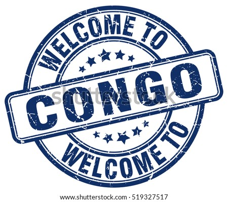 welcome to Congo. stamp.