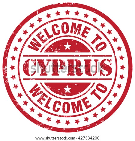 welcome to cyprus - stock vector