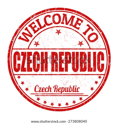 Welcome to Czech Republic grunge rubber stamp on white background, vector illustration - stock vector