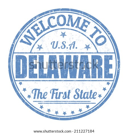 Welcome to Delaware grunge rubber stamp on white background, vector illustration - stock vector